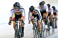 Corbin Strong competes in the Men Elite Omnium Points Race 25km during the 2020 Vantage Elite and U19 Track Cycling National Championships at the Avantidrome in Cambridge, New Zealand on Saturday, 25 January 2020. ( Mandatory Photo Credit: Dianne Manson )