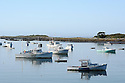 Painterly effect on boats in harbor at Cape Porpoise