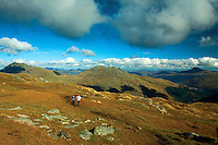 Beinn Ime, Beinn Narnain, The Cobbler and Ben Lomond from Ben Donich, the Arrochar Alps, Loch Lomond and the Trossachs National Park, Argyll & Bute