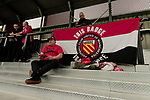Salford City 2 FC United of Manchester 1, 15/07/2017. Moor Lane, Pre Season Friendly. FCUM fans at half time, Salford City v FC United of Manchester in a pre season friendly at Moor Lane Salford. at half time. Photo by Paul Thompson.