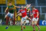 Paul Murphy, Kerry in action against Ruairi Deane, Cork, during the Munster GAA Football Senior Championship Semi-Final match between Cork and Kerry at Páirc Uí Chaoimh in Cork.