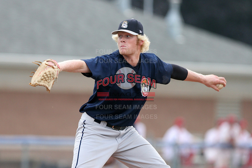Mahoning Valley Scrappers Matt Meyer during a NY-Penn League game at Dwyer Stadium on July 30, 2006 in Batavia, New York.  (Mike Janes/Four Seam Images)