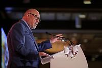 Jean-Marc Eustache, Air Transat a la Tribune de la Chambre de Commerce du Montreal Metropolitain, le mardi 22 mai 2018, a l'Hotel Bonaventure<br /> <br /> <br /> <br /> PHOTO : Agence Quebec Presse