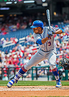 29 April 2017: New York Mets outfielder Curtis Granderson at bat during the second inning against the Washington Nationals at Nationals Park in Washington, DC. The Mets defeated the Nationals 5-3 to take the second game of their 3-game weekend series. Mandatory Credit: Ed Wolfstein Photo *** RAW (NEF) Image File Available ***