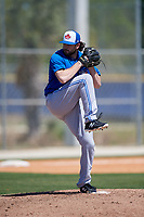 Toronto Blue Jays pitcher Jake Fishman (62) during a Minor League Spring Training Intrasquad game on March 14, 2018 at Englebert Complex in Dunedin, Florida.  (Mike Janes/Four Seam Images)