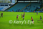 Tara Kelly, Clare in action against Louise Galvin, Kerry in the Lidl Ladies National Football League Division 2A Round 2 at Austin Stack Park, Tralee on Sunday.
