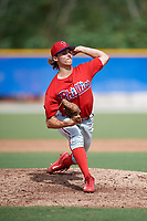 Philadelphia Phillies pitcher Kyle Dohy (39) delivers a pitch during an Instructional League game against the Toronto Blue Jays on October 7, 2017 at the Englebert Complex in Dunedin, Florida.  (Mike Janes/Four Seam Images)