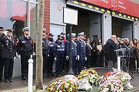 MONTROUGE LE 09/ 01/ 2017<br /> CEREMONIE EN HOMMAGE ¿ CLARISSA JEAN - PHILIPPE , LA JEUNE POLICIERE MUNICIPALE TUEE PAR LE TERRORISTE AMEDY COULIBALY LE 8 JANVIER 2015.
