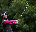 Seung Hyun Lee of South Korea tees off at the 2nd hole during Round 1 of the World Ladies Championship 2016 on 10 March 2016 at Mission Hills Olazabal Golf Course in Dongguan, China. Photo by Victor Fraile / Power Sport Images