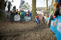Lars Van der Haar (NLD/Giant-Shimano) leading the race early on<br /> <br /> GP Sven Nys 2015