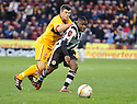 ST MIRREN'S NIGEL HASSELBAINK TRIES TO GET AWAY FROM MOTHERWELL'S STEVEN JENNINGS ..17/12/2011 sct_jsp004_motherwell_v_st_mirren     .Copyright  Pic : James Stewart.James Stewart Photography 19 Carronlea Drive, Falkirk. FK2 8DN      Vat Reg No. 607 6932 25.Telephone      : +44 (0)1324 570291 .Mobile              : +44 (0)7721 416997.E-mail  :  jim@jspa.co.uk.If you require further information then contact Jim Stewart on any of the numbers above.........