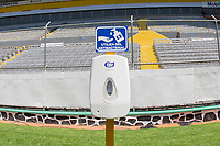 GUADALAJARA, MEXICO - MARCH 18: Covid social distancing at Estadio Jalisco during a game between Costa Rica and USMNT U-23 at Estadio Jalisco on March 18, 2021 in Guadalajara, Mexico.