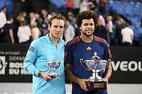 Jo Wilfried Tsonga et Lucas Pouille - Jo Wilfried Tsonga remporte l'Open 13 de Marseille, le 26 février 2017.