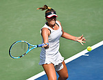 Sofia Kenin (USA) plays Naomi Osaka (JPN) at the Western & Southern Open being played on August  16, 2019 at Lindner Family Tennis Center in Mason, Ohio.  ©Leslie Billman/Tennisclix