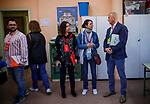 Ciudadanos, PSOE, Unidos Podemos and VOX's controllers during Spanish General Elections 2019. April 28,2019. (ALTERPHOTOS/Baldesca Samper)