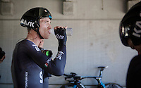 Salvatore Puccio (ITA/Sky) refueling after the TTT<br /> <br /> Elite Men's Team Time Trial<br /> UCI Road World Championships Richmond 2015 / USA