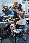 Cibeles catwalk with fashion show of Roberto Verino. Backstage. on Agost 31th 2012...Photo: (ALTERPHOTOS/Ricky)