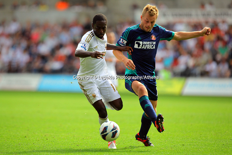 Saturday, 01 September 2012<br /> Pictured: Nathan Dyer of Swansea.<br /> Re: Barclays Premier League, Swansea City FC v Sunderland at the Liberty Stadium, south Wales.