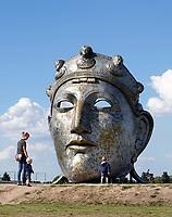 Nederland  Nijmegen  - September 2020 . Het Gezicht Van Nijmegen. Het Romeinse masker van Andreas Hetfeld op Veur-Lent.   Foto : ANP/ Hollandse Hoogte / Berlinda van Dam