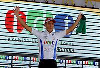 COLOMBIA. 17-08-2014. Hernan Botero  Campeón Combatividad de la Vuelta a Colombia 2014 en bicicleta que se cumple entre el 6 y el 17 de agosto de 2014. / Hernan Botero combativiness Champion of the Tour of Colombia 2014 in bike holds between 6 and 17 of August 2014. Photo:  VizzorImage/ José Miguel Palencia / Str