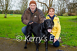 Enjoying a stroll in the Listowel town park on Saturday with Bella the dog, l to : Ian and Joan McPartling.