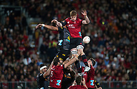 Cullen Grace wins lineout ball during the 2021 Super Rugby Aotearoa final between the Crusaders and Chiefs at Orangetheory Stadium in Christchurch, New Zealand on Saturday, 8 May 2021. Photo: Joe Johnson / lintottphoto.co.nz