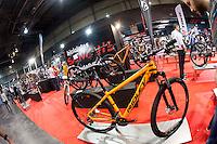 VALENCIA, SPAIN - NOVEMBER 7: Sanchis bikes stand during DOS RODES at Feria Valencia on November 7, 2015 in Valencia, Spain