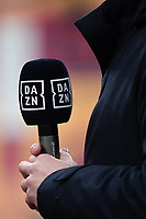 A DAZN microphone is seen during the Serie A football match between AS Roma and FC Internazionale at Olimpico stadium in Roma (Italy), January 10th, 2021. Photo Andrea Staccioli / Insidefoto