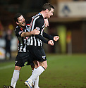 PARS ANDY KIRK CELEBRATES WITH LIAM BUCHANAN AFTER SCORES DUNFERMLINE'S FIRST GOAL