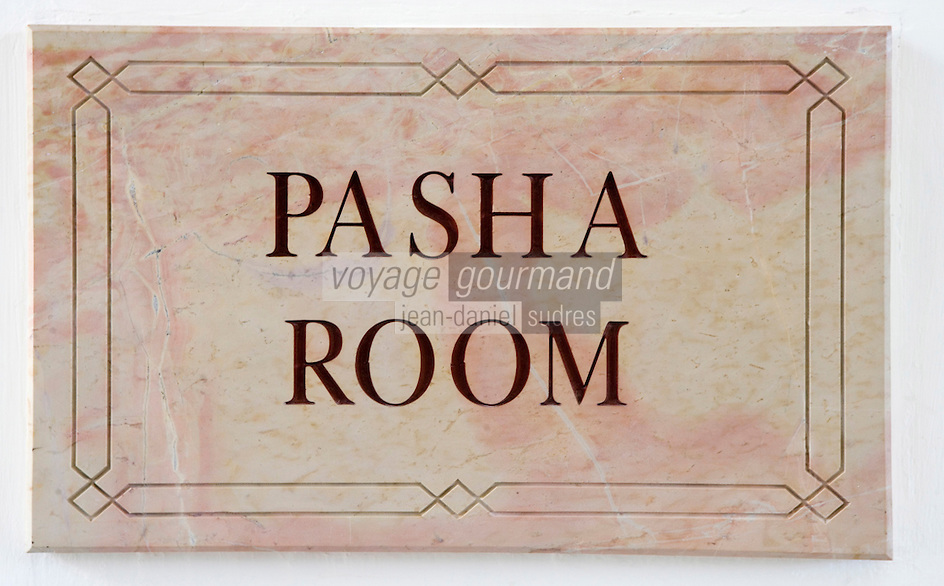 Asie/Israël/Judée/Jérusalem: Hotel American Colony plaque signalant les chambres Pacha