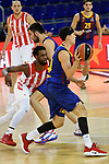 Turkish Airlines Euroleague 2020/2021. <br /> Regular Season-Round 10.<br /> FC Barcelona vs Crvena Zvezda MTS Belgrade: 76-65.<br /> Jordan Loyd vs Kyle Kuric.