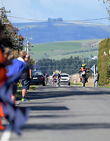 Under-23 and Senior Men's road race, Carterton-Martinborough-Gladstone circuit. Day three of the 2018 NZ Age Group Road Cycling Championships in Carterton, New Zealand on Sunday, 22 April 2018. Photo: Dave Lintott / lintottphoto.co.nz