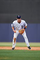 Tampa Yankees second baseman Nick Solak (39) during the first game of a doubleheader against the Bradenton Marauders on April 13, 2017 at George M. Steinbrenner Field in Tampa, Florida.  Bradenton defeated Tampa 4-1.  (Mike Janes/Four Seam Images)