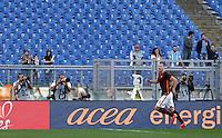 Calcio, Serie A: Roma vs Lazio. Roma, stadio Olimpico, 8 novembre 2015.<br /> Roma's Edin Dzeko celebrates after scoring on a penalty kick during the Italian Serie A football match between Roma and Lazio at Rome's Olympic stadium, 8 November 2015.<br /> UPDATE IMAGES PRESS/Isabella Bonotto