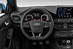 Car pictures of steering wheel view of a 2019 Ford Focus ST Base 5 Door Hatchback