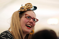 Wednesday 28 May 2014, Hay on Wye, UK<br /> Pictured: Sarah McIntyre<br /> Re: The Hay Festival, Hay on Wye, Powys, Wales UK.