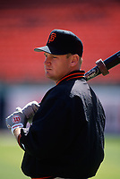 SAN FRANCISCO, CA:  Matt Williams of the San Francisco Giants takes batting practice before a game at Candlestick Park in San Francisco, California on July 4, 1994. (Photo by Brad Mangin)