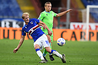 \thors\and Lucas Leiva Pezzini of SS Lazio compete for the ball during the Serie A football match between UC Sampdoria and SS Lazio at stadio Marassi in Genova (Italy), October 17th, 2020. <br /> Photo Image Sport / Insidefoto