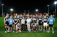 Photo: Richard Lane/Richard Lane Photography. London Wasps in Abu Dhabi for their LV= Cup game against Harlequins on 30st January 2011. 26/01/2011. Wasps team group during training at the Zyaid Sports City.