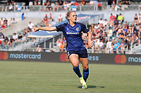 CARY, NC - SEPTEMBER 12: Amy Rodriguez #12 of the North Carolina Courage during a game between Portland Thorns FC and North Carolina Courage at Sahlen's Stadium at WakeMed Soccer Park on September 12, 2021 in Cary, North Carolina.