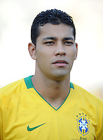 Andre Santos of Brazil. Brazil defeated USA 3-0 during the FIFA Confederations Cup at Loftus Versfeld Stadium in Tshwane/Pretoria, South Africa on June 18, 2009.