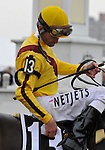 09 May 16:  Calvin Borel reflects after riding filly Rachel Alexandra to victory in the 134th running of the grade 1 Preakness Stakes for three year olds at Pimlico Race Track in Baltimore, Maryland.