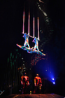 """BOGOTÁ -COLOMBIA-20-03-2013. El circo del Sol está de nuevo en Colombia y viene con el espectáculo, """"Varekai"""", un mundo fantástico ubicado en la cima de un volcán. La compañía canadiense desafiará la imaginación de los espectadores en Bogotá del 21 de marzo al 5 de mayo./ Cirque du Soleil is in Colombia again and come with """"Varekai"""" a show in a fantastic world on the top  of a volcano. Canadian company challenge the spectators imagination in Bogota from March 21th to May 5th. Photo: VizzorImage/CONT.¡Mandatory for editorial use only"""". This pictures are part of the service to VizzorImage subscribers."""