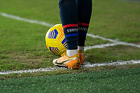 ORLANDO, FL - FEBRUARY 24: Christen Press #23 of the USWNT sets up a corner kick during a game between Argentina and USWNT at Exploria Stadium on February 24, 2021 in Orlando, Florida.