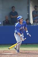 Evan White (19) of the Kentucky Wildcats bats during a game against the UC Santa Barbara Gauchos at Caesar Uyesaka Stadium on March 20, 2015 in Santa Barbara, California. UC Santa Barbara defeated Kentucky, 10-3. (Larry Goren/Four Seam Images)