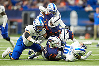 SAN ANTONIO, TX - SEPTEMBER 18, 2021: The University of Texas at San Antonio Roadrunners defeat the Middle Tennessee State University Blue Raiders 27-13 at the Alamodome (Photo by Jeff Huehn).
