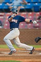 Potomac designated hitter Chris Marerro (24) follows through on his swing versus Winston-Salem at Ernie Shore Field in Winston-Salem, NC, Thursday, August 2, 2007.