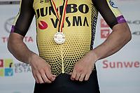 Bronze medal for Wout van Aert (BEL/Jumbo - Visma)<br /> <br /> Belgian National Road Championships 2019 - Gent<br /> <br /> ©kramon