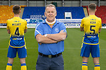 St Johnstone FC back of shirt sponsors A&B  Taxis owner Jimmy Turriff pictured with Jamie McCart and Jason Kerr wearing the away kit for the 2020-21 Season.<br />Picture by Graeme Hart.<br />Copyright Perthshire Picture Agency<br />Tel: 01738 623350  Mobile: 07990 594431