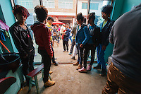 Asia,Cina,Guizhou,Gulong festival of Lusheng of Miao people, local youth hairstyles ,China minority